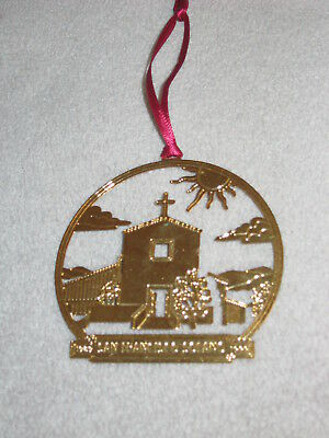 """Brass 3-D Christmas Ornament """"SAN FRANCISCO SOLANO"""" Mission Church 1999 ExCond"""