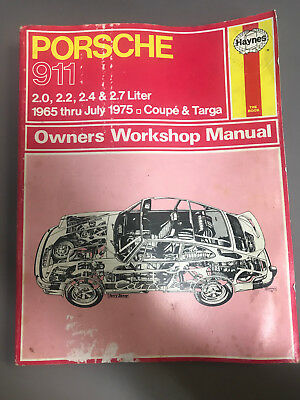 Porsche 911 Workshop Manual : 1965-1975 Porsche 911 Coupe and Targa