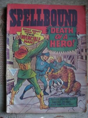 """spellbound"" #48,1964, Uk Comic,early Ff, Kirby, Wallace Wood, Williamson Vg+"