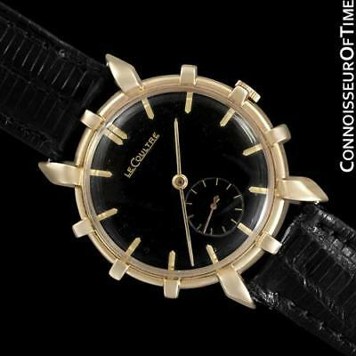 1951 JAEGER-LECOULTRE Vintage Mens Watch, Rare Bradley II Model, 14K Gold
