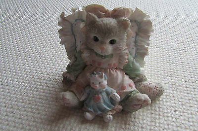 "Calico Kittens Figurine ""Friends Are Cuddles of Love"" 1992 by Enesco"