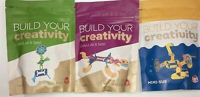 BUILD YOUR CREATIVITY Sets Mini-Sub Dog Lizard Butterfly Flower ~ Wendy's Toys