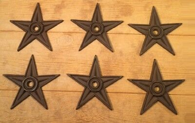 "Center Hole Texas Star Rustic Cast Iron X-Large Decor 9"" (Case of 6) 0170-02105"