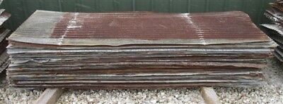 80 Sheets Barn Tin Corrugated Rustic Architectural Salvage 7' Long 1213 sq ft