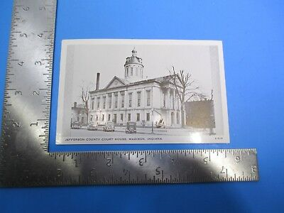 Vintage Jefferson County Court House Madison Indiana Post Card PC79