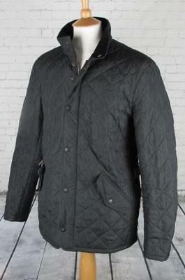 Mens Barbour Chelsea Sports Quilted Jacket Coat Terrace Casuals Black Medium