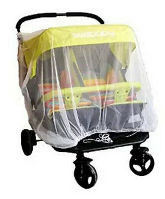 Twin Stroller Mosquito Net For~Pram Protector Fly Midge Insect Bug Cover TO