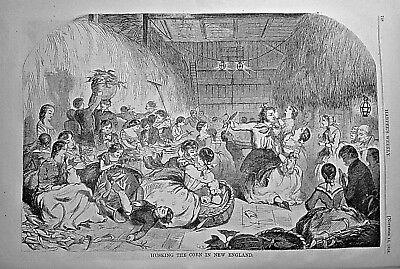 """WINSLOW HOMER """"NEW ENGLAND HARVEST"""" Fine Condition! 1858 HARPER'S WEEKLY"""