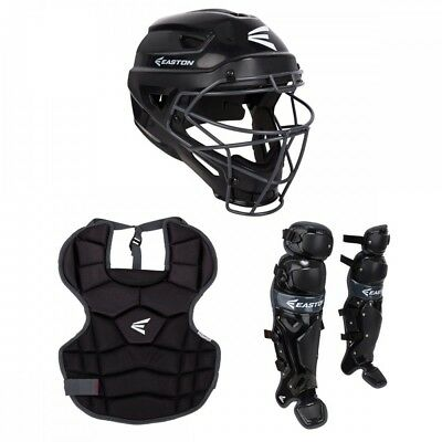 New Easton Prowess Qwikfit Fastpitch Girls Catchers Kit Complete Set  Black