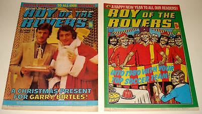 ROY OF THE ROVERS Comic  CHRISTMAS / NEW YEAR Issues 1979  Fine Condition