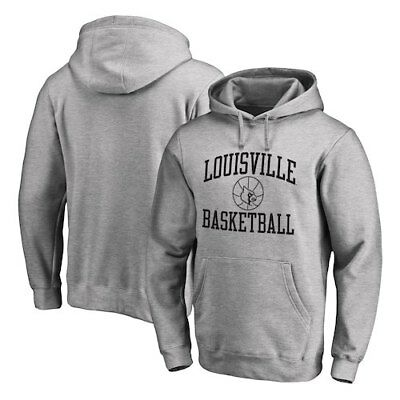 Louisville Cardinals Fanatics Branded In Bounds Pullover Hoodie - Heathered Gray
