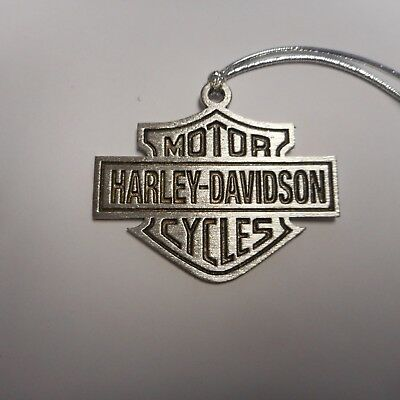 harley davidson christmas ornament shield 2 1/2 inches wide
