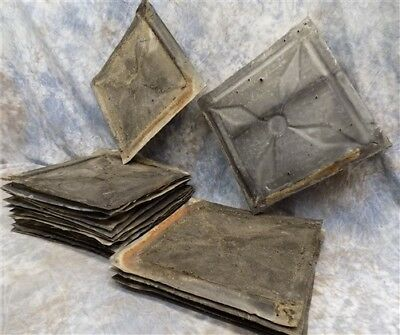 20 Ceiling Tin Squares Sink Backsplash Architectural Salvage Tile Vintage