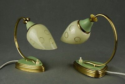 Pair of 1950s Bed Side Lamps Mid Century Danish Modern Vintage Eames 60s 70s Era