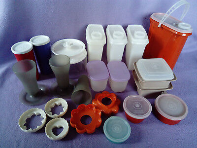 Vintage Tupperware selection bundle 70s retro collection cookie cutters sundae