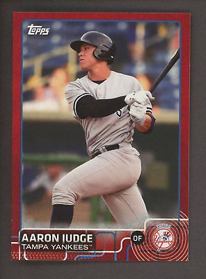 2015 Topps Red Aaron Judge New York Yankees RC Rookie 3/5