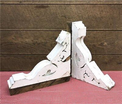 Antique Pair Victorian Corbels Shelf Bracket Architectural Salvage Gingerbread a