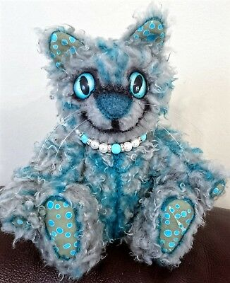 Cheshire Cat One Of A Kind Collectors Bear, ooak jointed direct from Artist