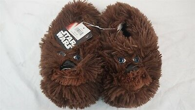 Disney Star Wars Brown Chewbacca Slippers Medium 13/1 Officially Licensed