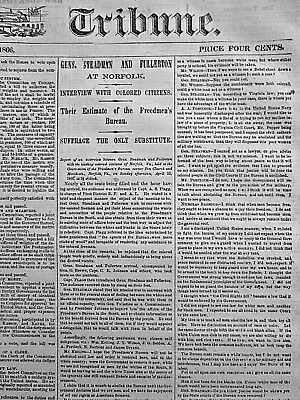 Gens Steadman & Fullerton - Interview With Colored Citizens 1866 Newspaper