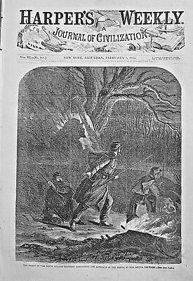BATTLE OF SOMERSET Indepth! 1862 Harper's Weekly / FORT PICKENS BOMBARDMENT
