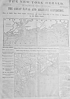 Maps Of The Great Naval & Military Expedition - Our Great Armada 1861 Newspaper