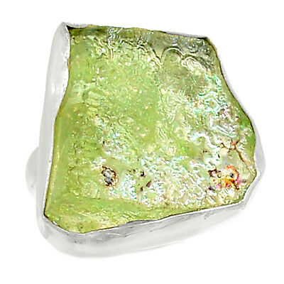 Ancient Roman Glass 925 Sterling Silver Ring Jewelry s.6 AR8569