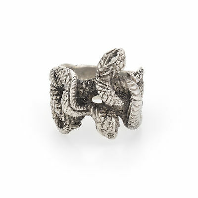 Buccellati Double Headed Snake Serpent Ring Sterling Silver Vintage Fine Jewelry