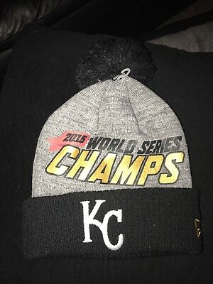 competitive price fcf65 4a5a0 Kansas City Royals World Series Champions New Era On Field Knit Pom Hat Cap