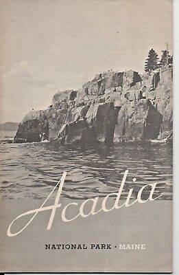 Acadia National Park ME Guide & Map Booklet 1938