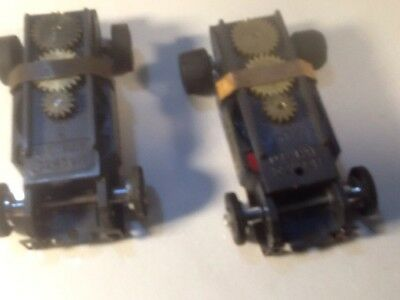 Vintage Aurora Slot Car Lot Of 2 Beefed Up Fast Chassis