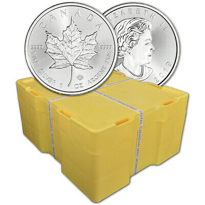 2019 Canada Silver Maple Leaf - 1 oz - $5 - BU - Sealed 500 Coin Monster Box