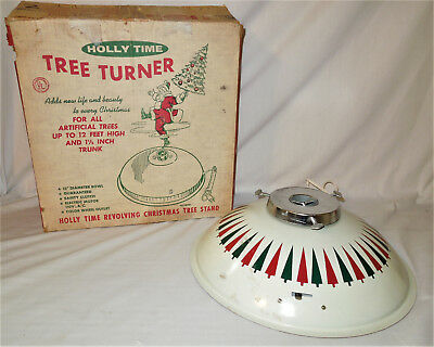 Vintage HOLLY TIME TREE TURNER Christmas RED & GREEN Tree Stand