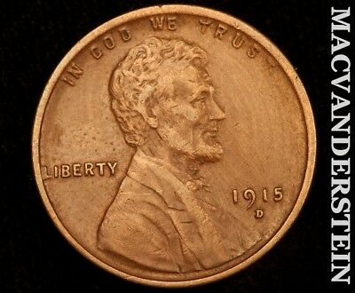 1915-D Lincoln Wheat Cent-Extra Fine!! Scarce Better Date!! #d4788