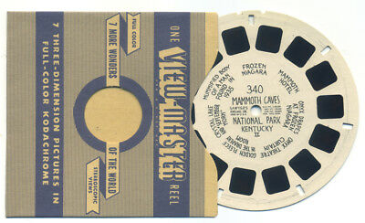 Mammoth Caves National Park Kentucky II early 1940's ViewMaster Single Reel 340