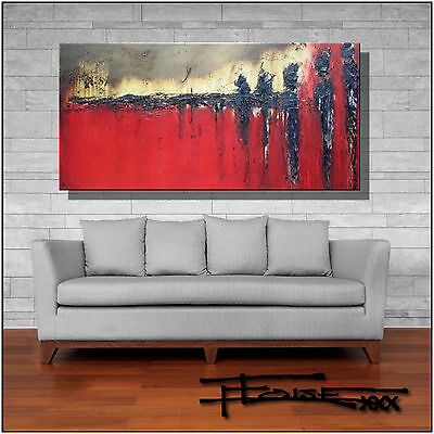 ABSTRACT PAINTING Modern CANVAS WALL ART Large, Framed, Signed, USA ELOISExxx