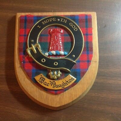MACNAUGHTON Family Coat of Arms and Tartan Heraldry Ancestry Crest Clan Plaque