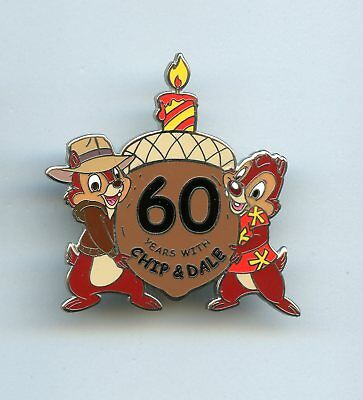 Disneyland Disney 60th 60 Years Afternoon Chip 'n Dale Rescue Rangers LE Pin