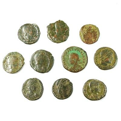 Ten (10) Nicer Ancient Roman Coins c. 100 - 375 A.D. Exact Lot Shown rm3518