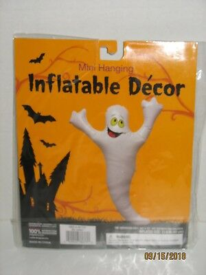 Halloween Mini Inflatable Hanging Ghost Vinyl Indoor Outdoor Decoration NIP