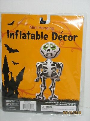 Halloween Mini Inflatable Hanging Skeleton Vinyl Indoor Outdoor Decoration NIP