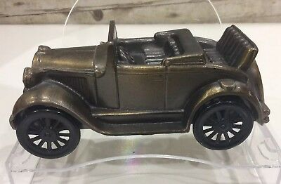Vintage Banthrico Cast Metal 1929 Ford Model Coin Bank The trust co.car VGC