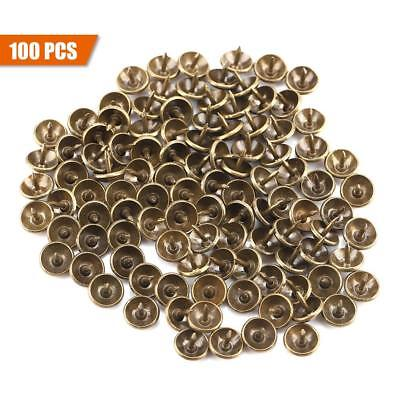 100 Pcs Antique Upholstery Nails Tacks Furniture Sofa Hardware Bronze Studs Pins