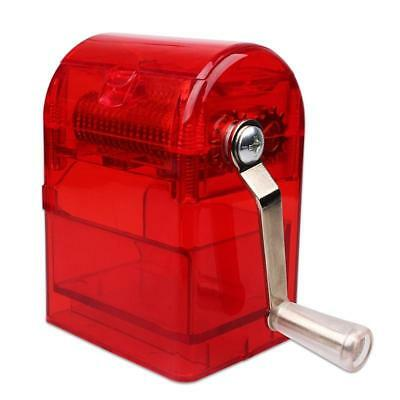 Herb Grinder Tobacco Cutter Hand Muller Shredder with Tobacco Storage Case Red