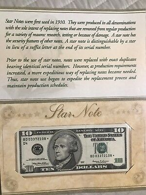 1999 $10 Star Note  Repeater Serial With Booklet Gem Uncirculated 108