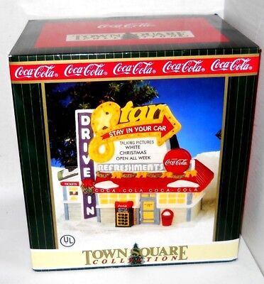 1998 Coca-Cola Town Square Christmas Collection Star Drive-In New In Box