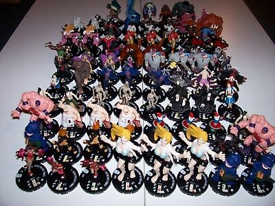 Horrorclix Nightmares 85 figure lot w/cards 20 plot twists 19 tokens Demon Bunny