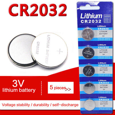 Hot 5Pcs/Set CR2032 3V Electronic Coin Button Cell Battery for Watch Toys Remote