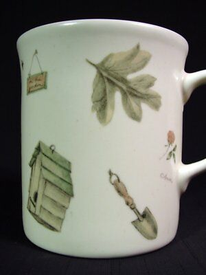 Pfaltzgraff Naturewood Coffee Tea Mug Study of Botanical Beauty