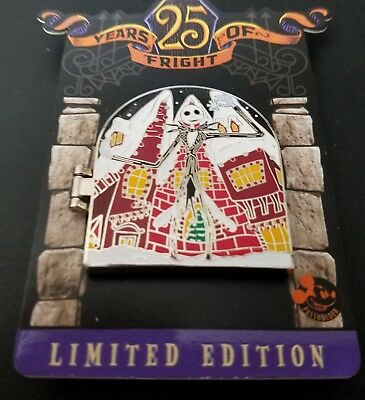 2018 Dlr 25 Years Of Fright Jack Skellington Annual Passholder Pin Le4000 Mint